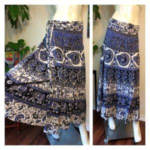 Deer Boho Hippie Wrap Around Skirt